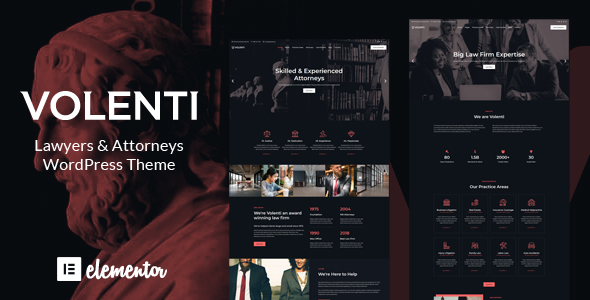 Volenti - Lawyers Elementor WordPress Theme