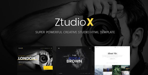 Ztudio X - Creative Studio Photography HTML Template