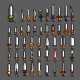 Swords for Creating Video Games - GraphicRiver Item for Sale