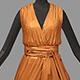Women summer long orange dress white high heel shoes - 3DOcean Item for Sale