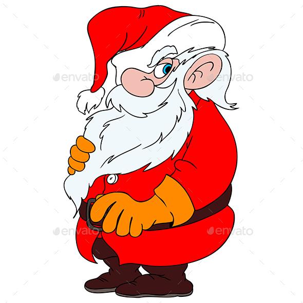 Cartoon Santa Claus Vector Illustration
