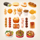 Fast Food from Asian Streets Vector Images - GraphicRiver Item for Sale
