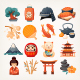 Japanese Culture Vector Objects Icons - GraphicRiver Item for Sale