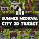 Summer Medieval City Game Tileset - GraphicRiver Item for Sale