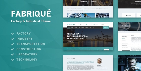 Fabriqué - Factory & Industrial Business WordPress Theme