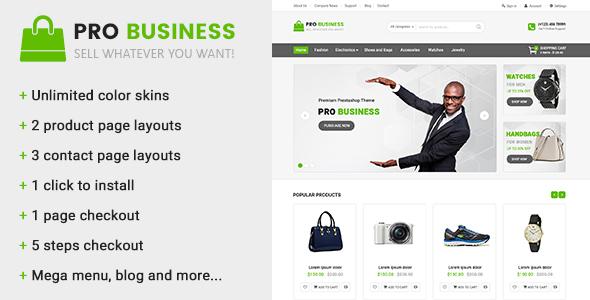Pro Business - Multipurpose Prestashop Theme