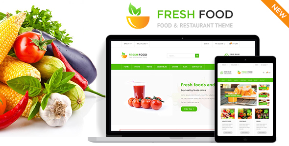 Fresh Food - PrestaShop Theme for Restaurant Stores