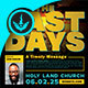The Last Days Church Conference Flyer Template - GraphicRiver Item for Sale