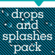 Water Drops And Splashes Pack - Web & Print - GraphicRiver Item for Sale
