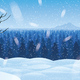 Background of Landscape with Winter Forest - GraphicRiver Item for Sale