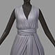 Women summer long grey dress white high heel shoes - 3DOcean Item for Sale