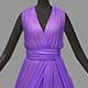 Women summer long lilac dress white high heel shoes - 3DOcean Item for Sale