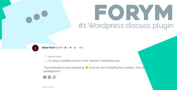 Forym - Modern Discussion Forum for Wordpress