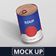 Food Tin Can Mockup - GraphicRiver Item for Sale