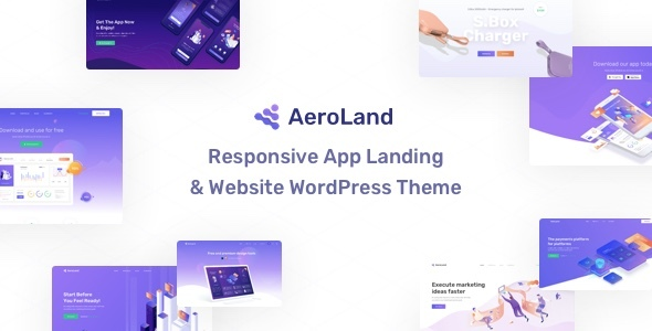AeroLand -  App Landing Software Website WordPress Theme