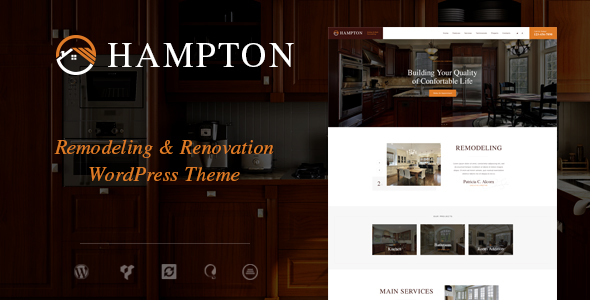 Hampton | Home Design and House Renovation WordPress Theme