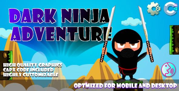 Dark Ninja - Adventure - (C2, C3, HTML5) Game.