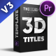 3D TITLES PACK | MOGRT - VideoHive Item for Sale