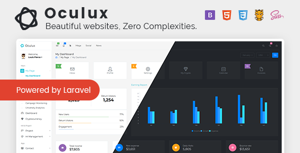 Oculux UI -  Laravel Admin Dashboard Template