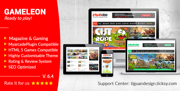 Gameleon - WordPress Arcade Theme & News Magazine