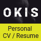 Okis - Personal CV Resume HTML Template - ThemeForest Item for Sale