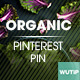 10 Pinterest Pin Banner - Organic - GraphicRiver Item for Sale