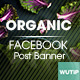 20 Facebook Post Banner - Organic - GraphicRiver Item for Sale