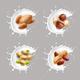 Nuts in Milk Splash - GraphicRiver Item for Sale