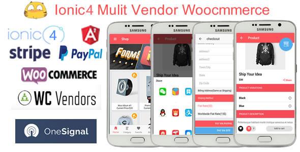 IonicWooMultiVendorStore - Ionic4 Multi Vendor Woocommerce App