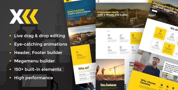 Samatex - Industrial WordPress Theme + Woocommerce