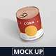 Food Tin Can Mockup Medium Size - GraphicRiver Item for Sale