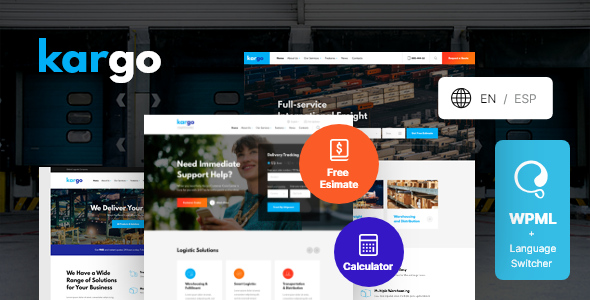 Kargo | Logistics & Transportation WordPress Theme