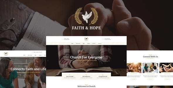 Faith & Hope | A Modern Church & Religion Non-Profit WordPress Theme