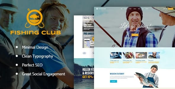 Fishing and Hunting Club Hobby WordPress Theme