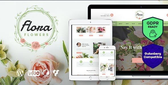 Flowers Boutique and Florist WordPress Theme