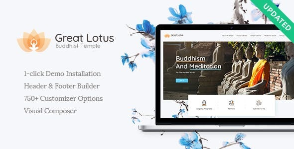 Great Lotus | Oriental Buddhist Temple WordPress Theme