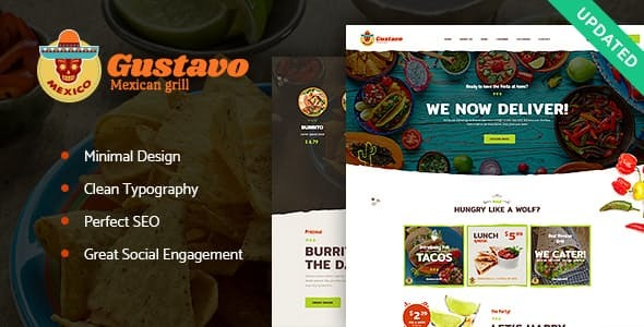 Gustavo | Mexican Grill, Bar & Restaurant WordPress Theme