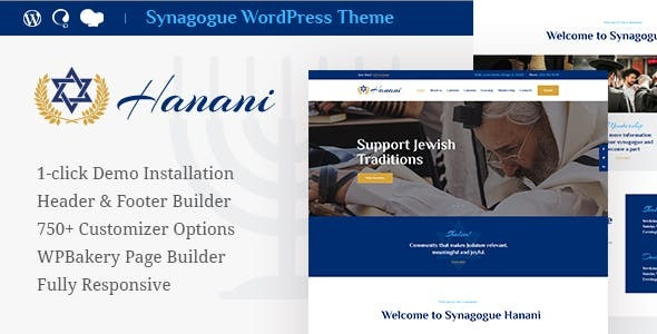 Hanani | Jewish Community & Synagogue WordPress Theme + RTL