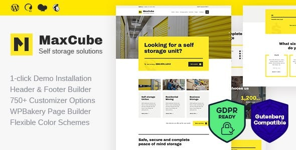MaxCube | Moving & Self Storage Relocation Business WordPress Theme