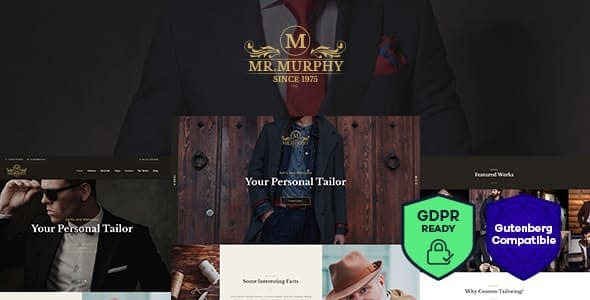 Mr. Murphy - Custom Dress Tailoring Clothing WordPress Theme