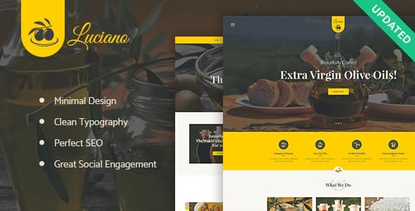 Olive Oil Farm and Vinegars Production WordPress Theme