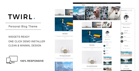 Twirl - A Personal WordPress Blog Theme