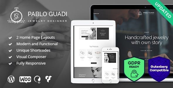 Pablo Guadi - Precious Stones Designer & Handcrafted Jewelry Online Shop WordPress Theme