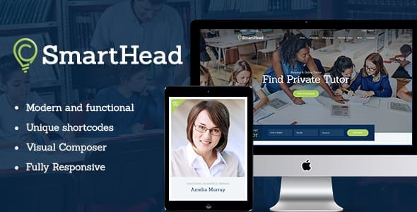 SmartHead | Tutoring Service & Online School Education WordPress Theme