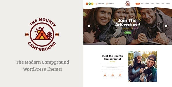 The Mounty | Hiking Campground & Children Camping WordPress Theme