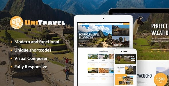 UniTravel | Travel Agency & Tourism Bureau WordPress Theme
