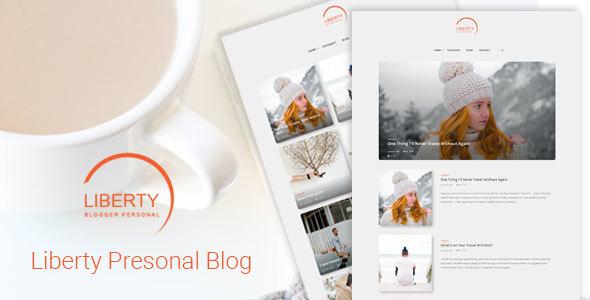 Liberty - A Clean Personal WordPress Blog Theme