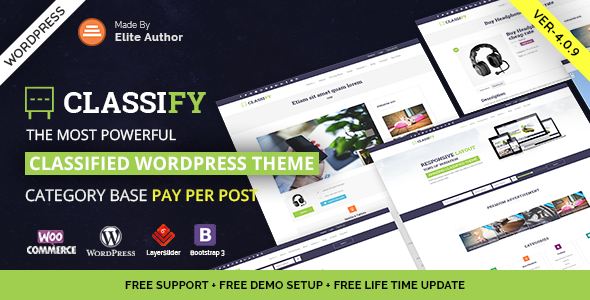 Classify - Classified Ads WordPress Theme Download