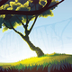 Background of Landscape with Field  and Trees - GraphicRiver Item for Sale
