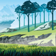 Background of Landscape with Rocks, Mountains and Forest - GraphicRiver Item for Sale